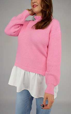 Pink Knitted Shirt Top by Tilly Tizarro