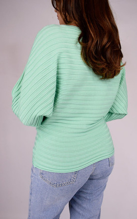 Green Ribbed Long Sleeved Top by Tilly Tizarro