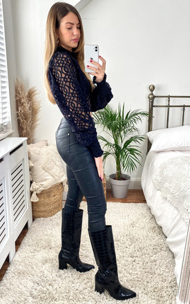 Marlee Top in Black by Lace & Beads
