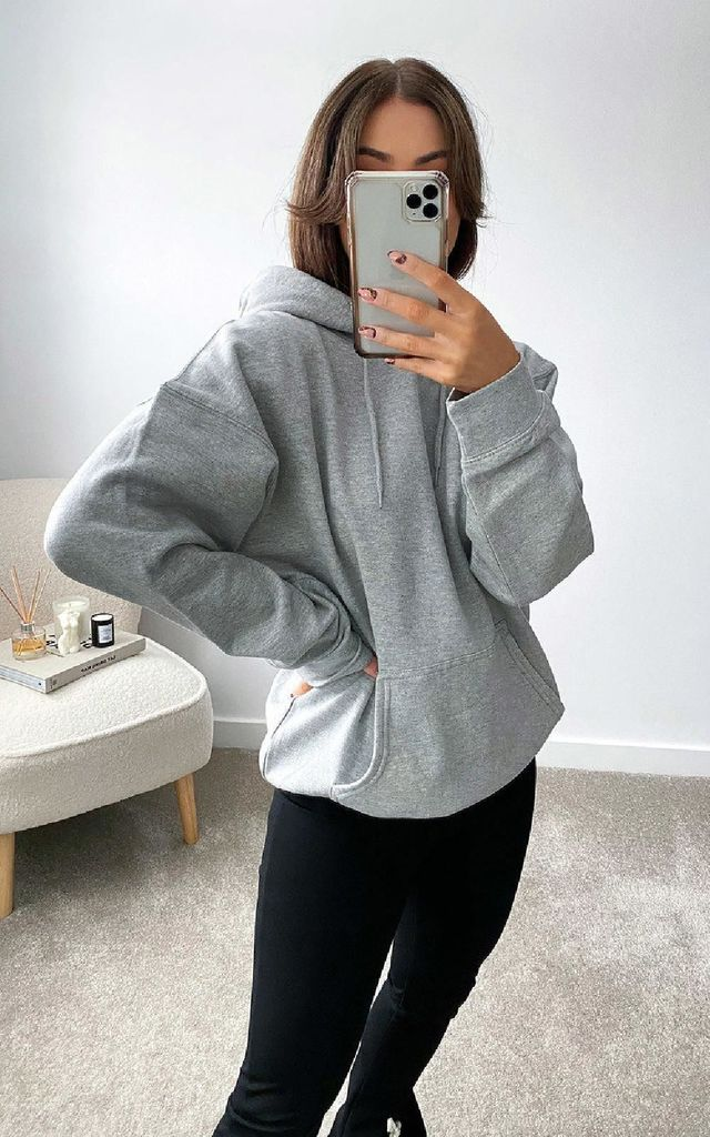 Thalia Hooded Jumper in Grey by IKRUSH
