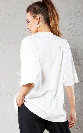 White Premium 'Not Today' Oversized T-Shirt by Call Me Eden