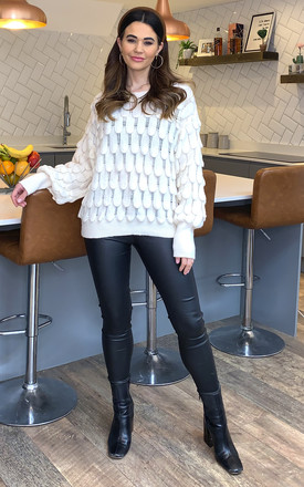 Eleni Scallop Jumper In Ivory by Blue Vanilla
