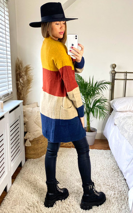 Nadine Colour block cardigan by Faux