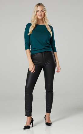 Women's Maternity Top Dark Green by Chelsea Clark