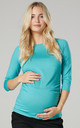 Women's Maternity Top in Mint by Chelsea Clark