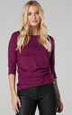 Women's Maternity Top in Plum by Chelsea Clark