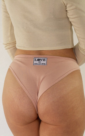 Rouched Front Brief Peony Pink by Fullalove Clothing