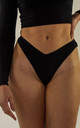 Rouched Front Brief Black by Fullalove Clothing