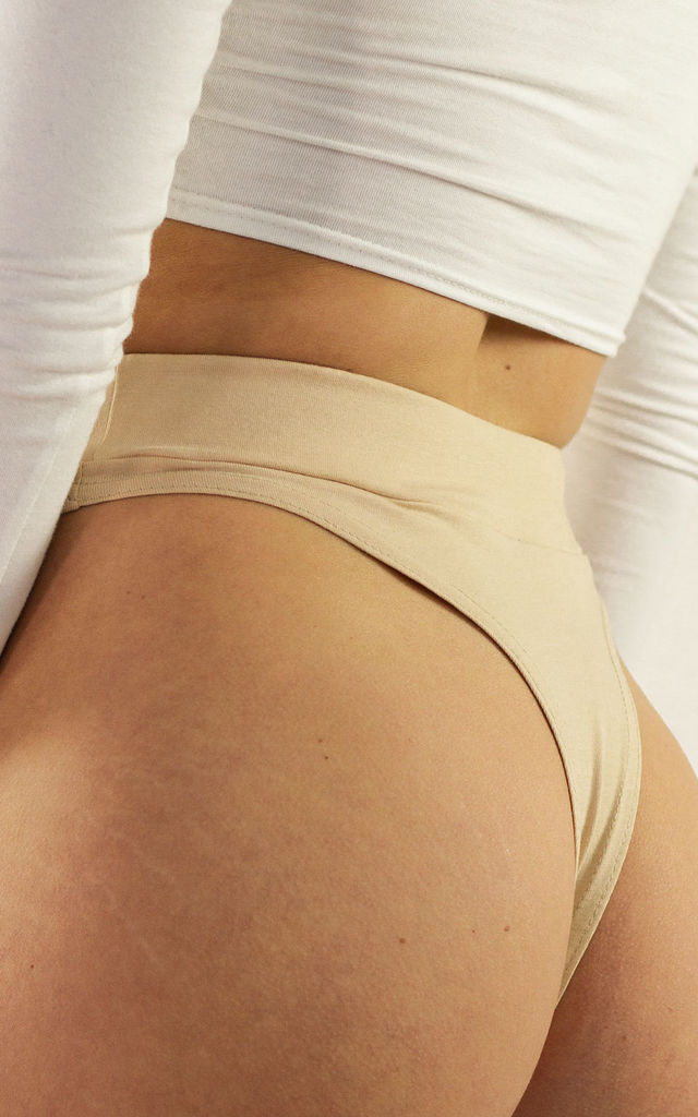 Basic Thong Dirty Peach by Fullalove Clothing