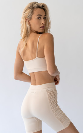 Creme crop top by ASTERIN Clothing