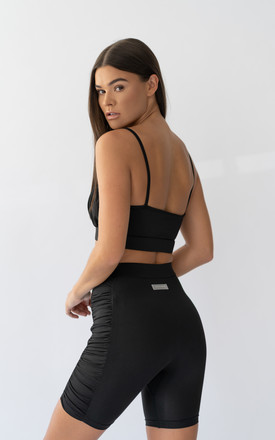 Piano black crop top by ASTERIN Clothing