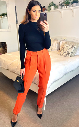 Straight Leg Chino Trousers in Tuscany by DIVINE GRACE