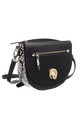 SNAKE PRINT FLAP OVER CROSS BODY BLACK by BESSIE LONDON