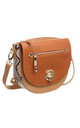 SNAKE PRINT FLAP OVER CROSS BODY TAN by BESSIE LONDON