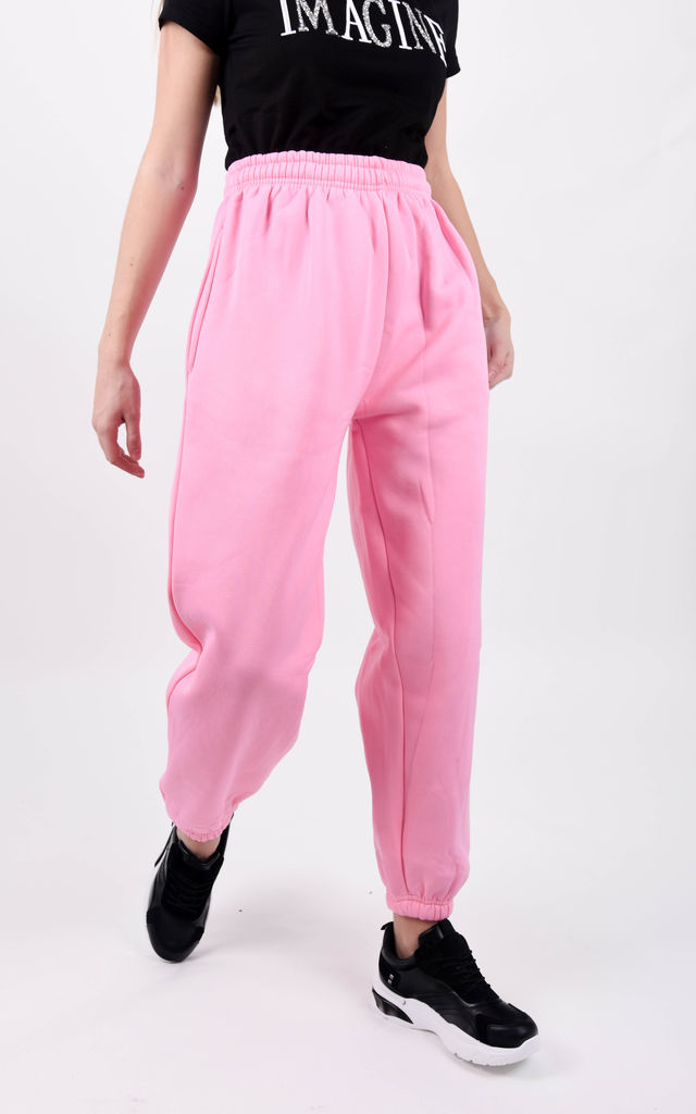 Pink Casual Sweat Oversized Joggers by Boutique Store