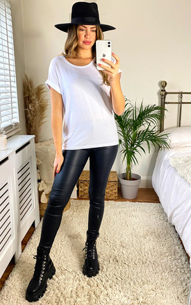 Short Sleeve Round Neck Tee   White by ONLY Product photo