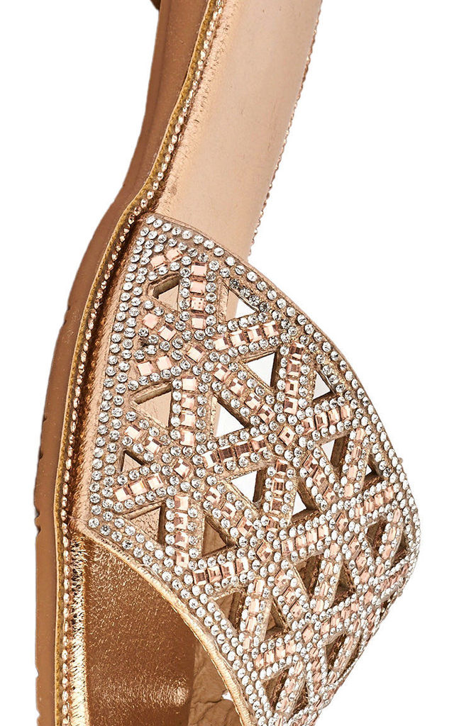 Esme Dia & Gemstone Band Slider In Champagne by Miss Diva