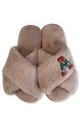 Fluffy Faux Fur Personalised Slippers - Pink & Rainbow Letter by Pink Waters Resort