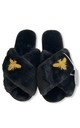 Bee Fluffy Faux Fur Slippers by Pink Waters Resort
