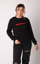 Jumper in Black with Red Hearts by LimeBlonde