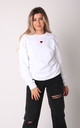 Jumper in White with Red Glitter Heart by Lime Blonde