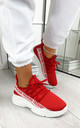 Kalena Fashion Trainers in Red by Larena Fashion