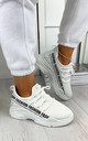 Kalena Fashion Trainers in White by Larena Fashion