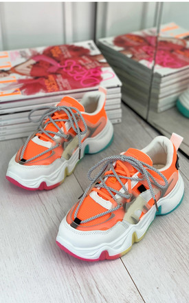 Maile Rainbow Trainers in Orange by Larena Fashion
