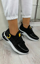 Camelia Sock Pull Up Trainers in Black by Larena Fashion