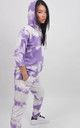 Purple Tie Dye Drawstring Hoodie by Boutique Store