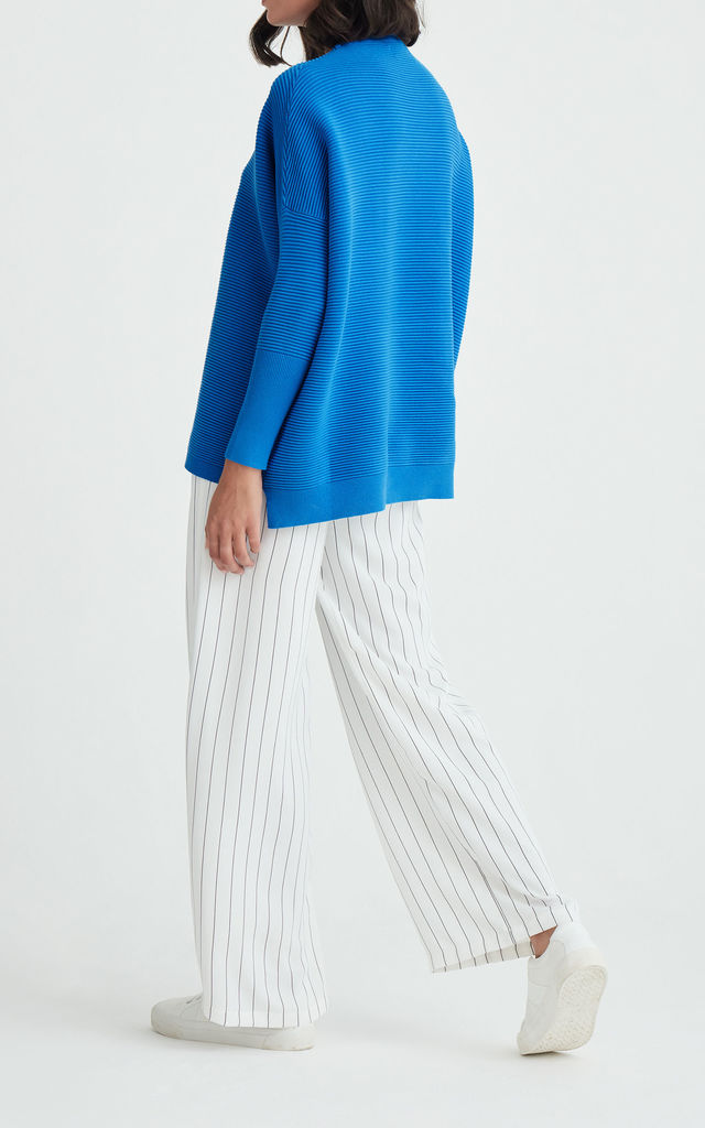 Paisie Ribbed Jumper in Blue by Paisie
