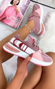 Camelia Sock Pull Up Trainers in Pink by Larena Fashion