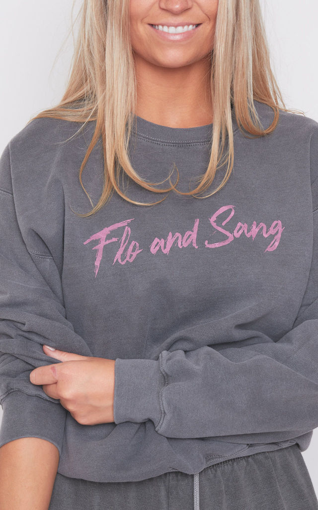 Charcoal Frankie Crew Sweat by Flo & Sang