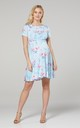 Maternity & Nursing Swing Dress in Light Blue & Pink Flower by Chelsea Clark