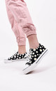 Black Daisy Print Canvas Lace Up Trainers by Boutique Store