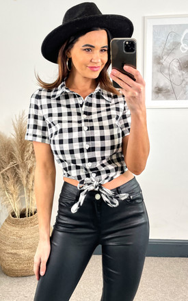 Sammy Vintage Gingham Tie Blouse by Collectif Clothing