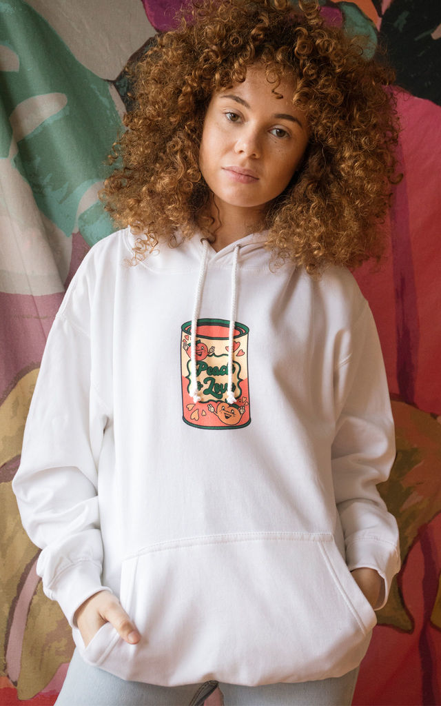 Peach and Love Women's Slogan Hoodie by Batch1