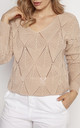 Loose Asymmetric Jumper in Beige by MKM Knitwear Design