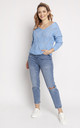 Loose Asymmetric Jumper in Blue by MKM Knitwear Design