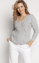 Loose Asymmetric Jumper in Grey by MKM Knitwear Design