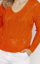 Loose Asymmetric Jumper in Orange by MKM Knitwear Design