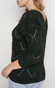 Loose Asymmetric Jumper in Dark Green by MKM Knitwear Design