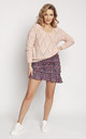 Loose Asymmetric Jumper in Pink by MKM Knitwear Design