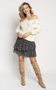 Loose Asymmetric Jumper in Ecru by MKM Knitwear Design