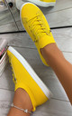 Lani Slim Sole Trainers in Yellow by Larena Fashion