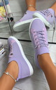 Lani Slim Sole Trainers in Purple by Larena Fashion