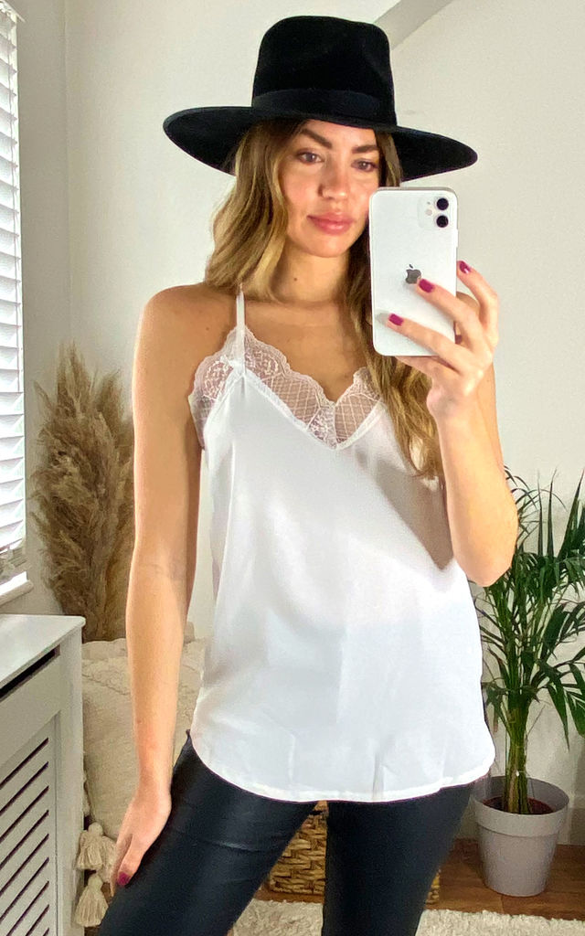 White Lace Cami Top by Jenerique