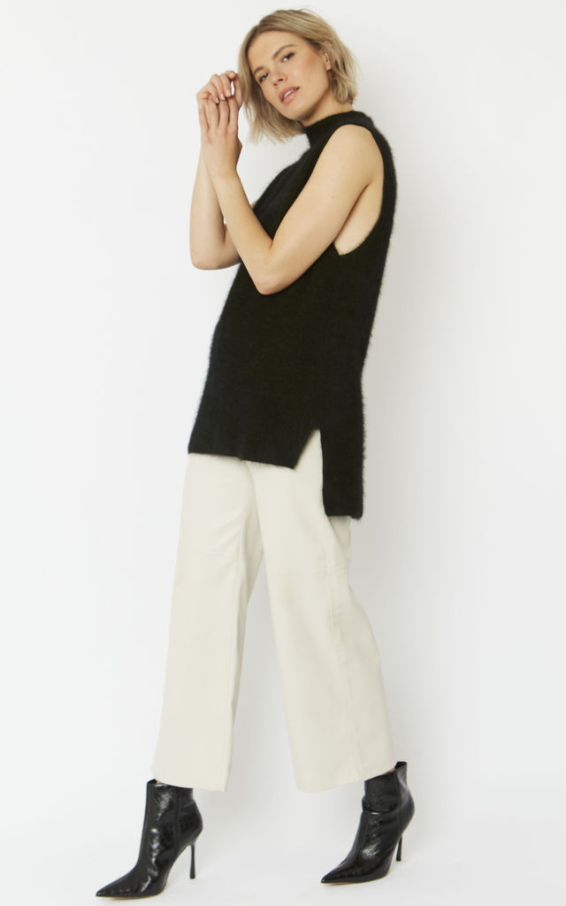 Cashmere & Wool Blend Sleeveless Tunic by Jayley Collection