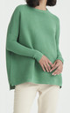 Paisie Ribbed Jumper in Green by Paisie