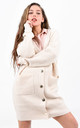 Cream Knitted Oversized Button Up Cardigan by Boutique Store